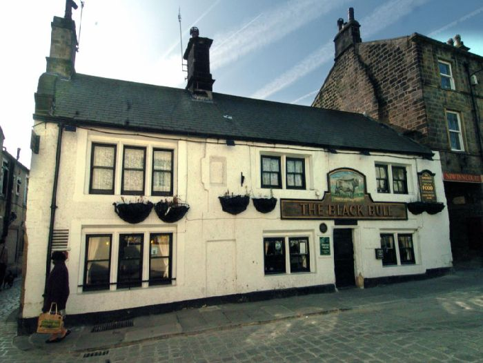 The Black Bull was reputedly visited by Oliver Cromwell and his soldiers during the Civil War