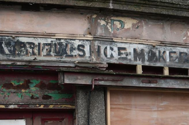 .'Ghost sign on Charlotte. Picture: John Devlin