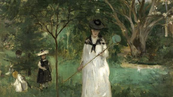 """Berthe Morisot, """"The Butterfly Hunt"""", 1874, Paris, musée d'Orsay, donation Etienne Moreau-Nélaton, 1906"""