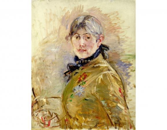 "Berthe Morisot, \ ""Autoportrait \"", 1885, Paris, Marmottan-Claude Monet Museum, Denis and Annie Rouart Foundation, Annie Rouart bequest, 1993"