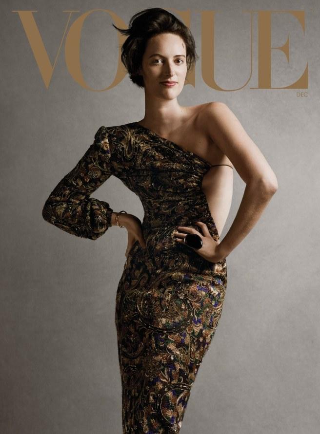 COVER LOOK nbsp Phoebe WallerBridge wears a Saint Laurent by Anthony Vaccarello dress. Dries Van Noten ring. Nikos...