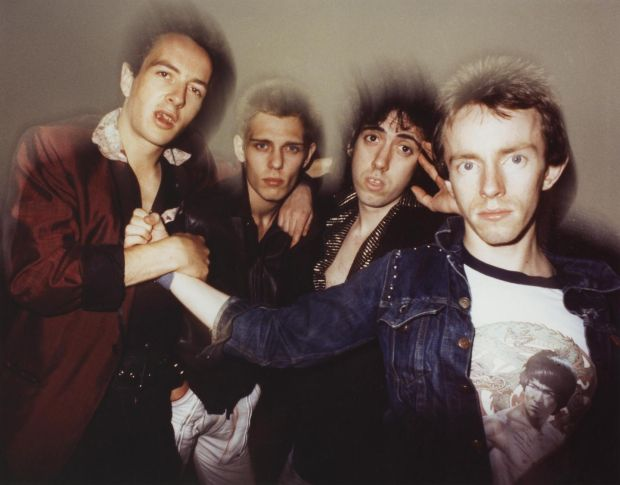 The Clash: Joe Strummer, Paul Simonon, Mick Jones and Topper Headon in 1978. Photograph: Michael Putland/Getty